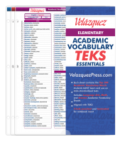 Velázquez Elementary Academic Vocabulary TEKS Essential Set - Spanish