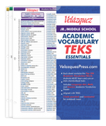 Velázquez Jr./Middle School Academic Vocabulary TEKS Essential Set - Twi