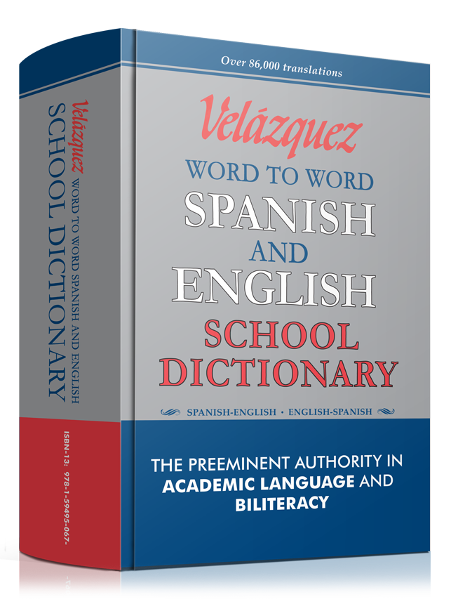 Velázquez Word to Word English and Spanish School Dictionary
