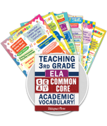 Common Core Academic Vocabulary Poster Set - ELA - 3rd Grade