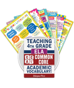 Common Core Academic Vocabulary Poster Set - ELA - 4th Grade