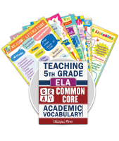 Common Core Academic Vocabulary Poster Set - ELA - 5th Grade