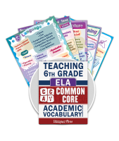 Common Core Academic Vocabulary Poster Set - ELA - 6th Grade