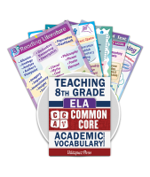 Common Core Academic Vocabulary Poster Set - ELA - 8th Grade