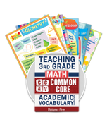 Common Core Academic Vocabulary Poster Set - Math - 3rd Grade