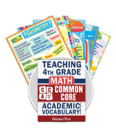 Common Core Academic Vocabulary Poster Set - Math - 4th Grade