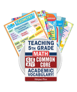 Common Core Academic Vocabulary Poster Set - Math - 5th Grade