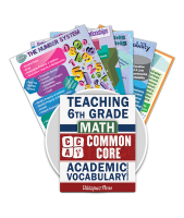 Common Core Academic Vocabulary Poster Set - Math - 6th Grade