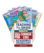Common Core Academic Vocabulary Poster Set - Math - 7th Grade