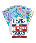Common Core Academic Vocabulary Poster Set - Math - 8th Grade