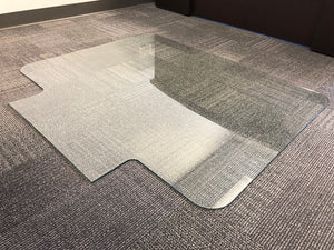 30 X 48 Glass Tabbed Chair Mat With Scratchshield Lucidity Glass
