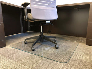 30 X 48 Glass Chair Mat With Scratchshield Lucidity Glass