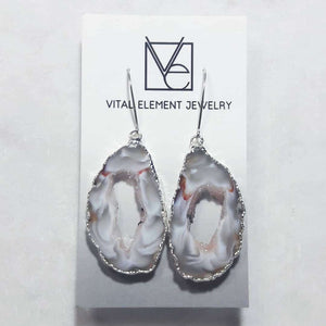 Gilded Occo Geode Slice earrings :: #EOES112