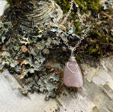 #RQS1 - Rose Quartz Nugget on Sterling Silver 16 inch chain option  |  The Vital Element