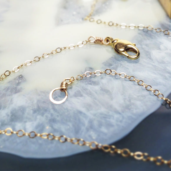 Gold Filled Chain with Hand-Wrapped Loop and Clasp :: The Vital Element