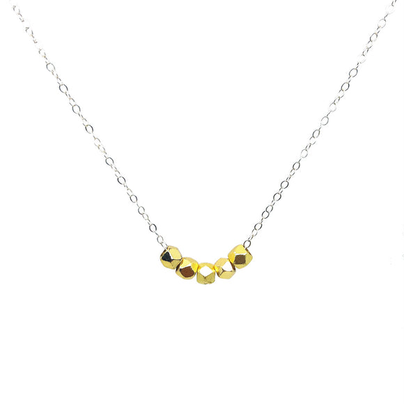 Delicate Faceted Bead Necklace