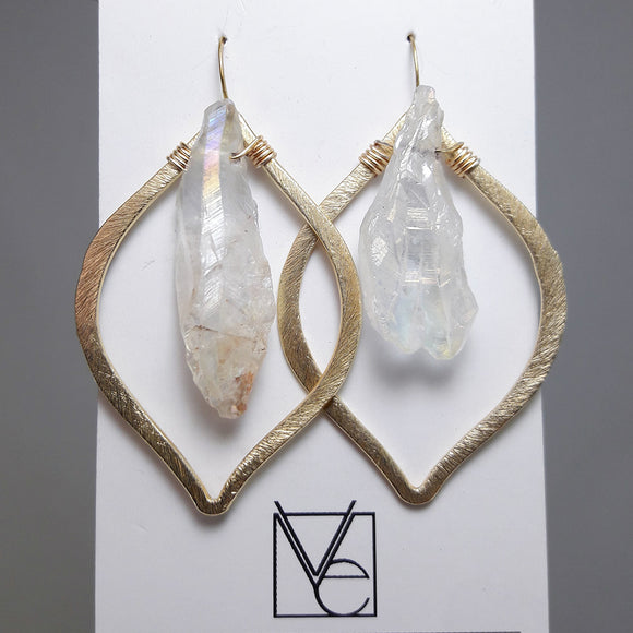 Arabesque Drop Crystal Earrings