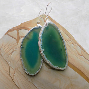 Agate Slice Earrings :: #115