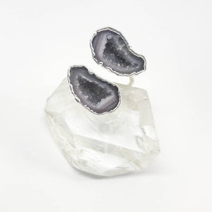 Mexican Tabasco Geode Wrap Ring