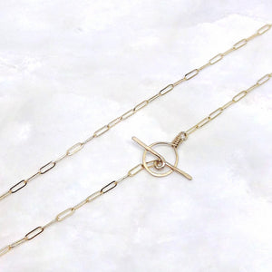 Elegant Gold Filled or Silver Drawn Cable Chain :: Made To Order