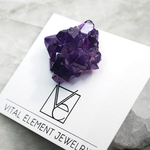 Amethyst Pin :: Lapel Style Back