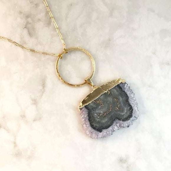 Stalactite Slice Necklace