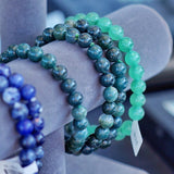 Natural Stone Beaded Bracelet :: Elastic