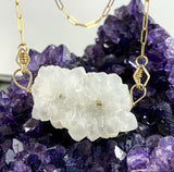 Solar Quartz Double Stalactite Necklace :: Gold Filled