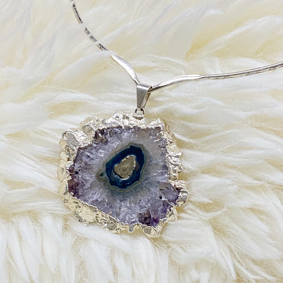 Silvered Amethyst Stalactite Slice Torque