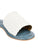 Diani White Leather Weave Slides