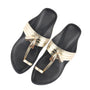 Metallics -  Women's Gold Kolhapuri