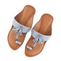 Women's Light Blue Kolhapuri