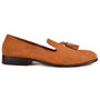 Bari tan tassel loafers