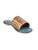 Diani Bronze Leather Weave Slides
