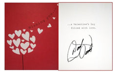 Signed Donny Valentine Card and Purse Hanger