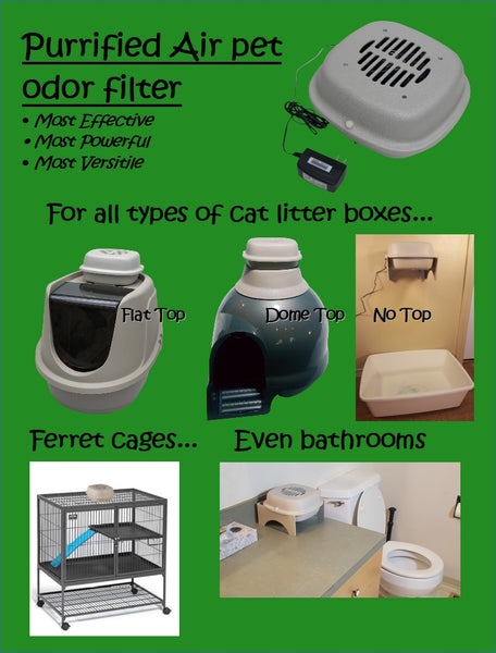 Air Purifier used on a litter box, a ferret cage, in the bathroom and other rooms in the house.
