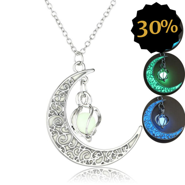 Glow in the dark moon chain