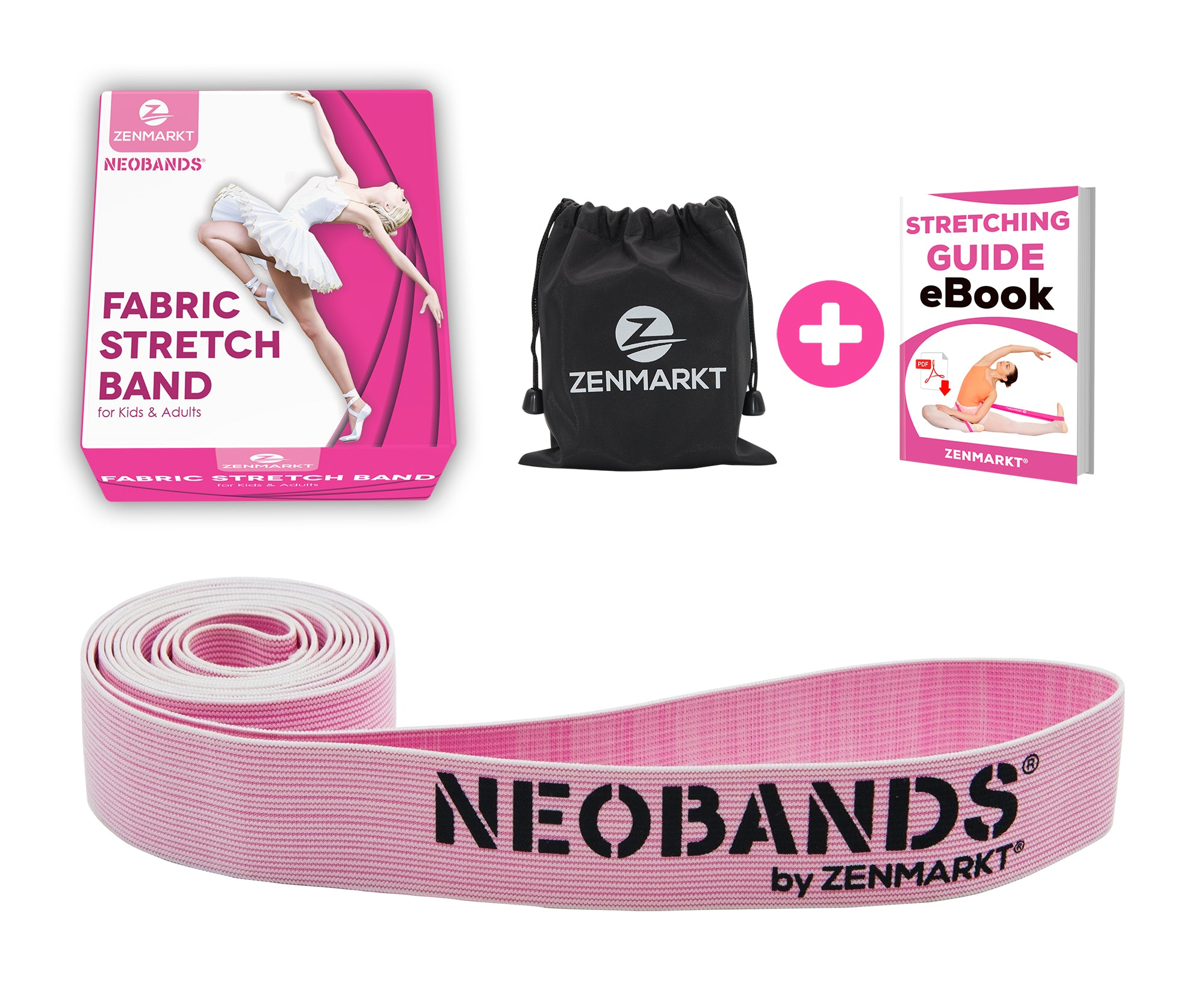 NEOBANDS Fabric Stretch Band for Dance and Ballet - Dance Stretch Bands for Flexibility - Fabric Exercise Resistance Band