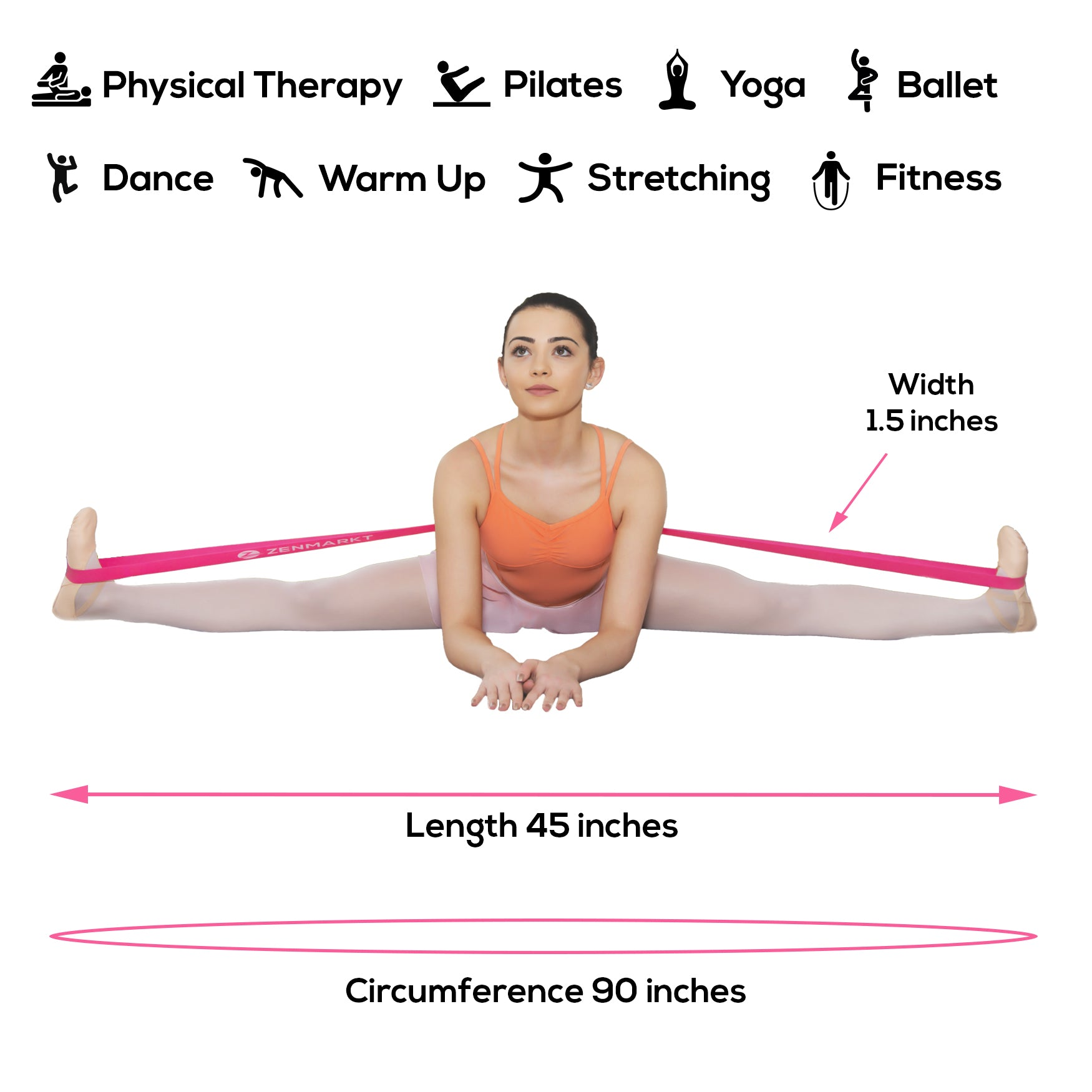 Zenmarkt® Stretch Band for Ballet, Dance, Gymnastics