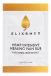 ElixrMED Hemp Intensive Healing Pain Rub Travel Packets