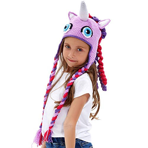 Knitted Unicorn Winter Hat Beanie – Lewo Cheap Toy Store 017723e8346