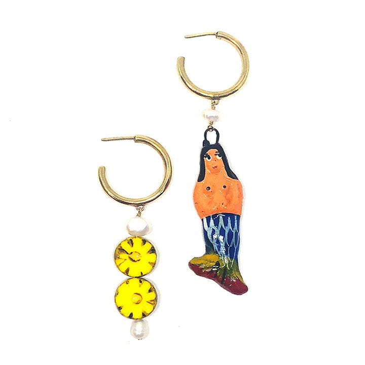 Mermaid and Sunflower Drooling Hoops