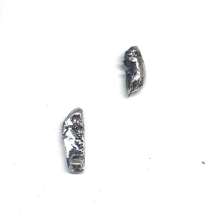 Melted Silver Studs II
