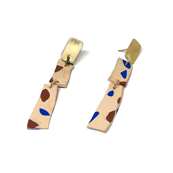Terrazzo Earrings - Ladder (Sand)