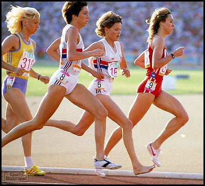 Zola Budd, Barefoot runner, Image attibuted to Sports Illustrated
