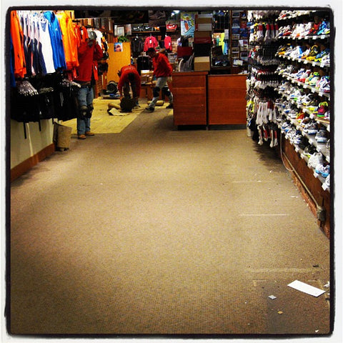 Before: What our 11 year old carpet looked like at 7:30pm on 3/6/12.