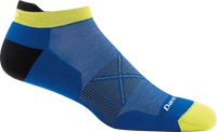 Darn Tough Men's Coolmax Vertex No Show Tab Ultra-Light Running Socks - Blue (1010-Marine)