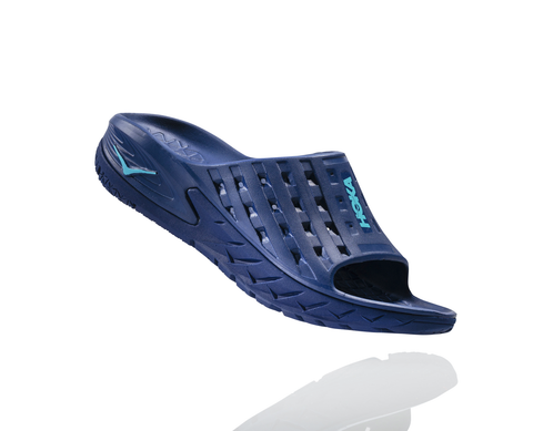 Hoka One One Men's Ora Recovery Slide - Medieval Blue/Blue Atoll (1014864-MBBA)