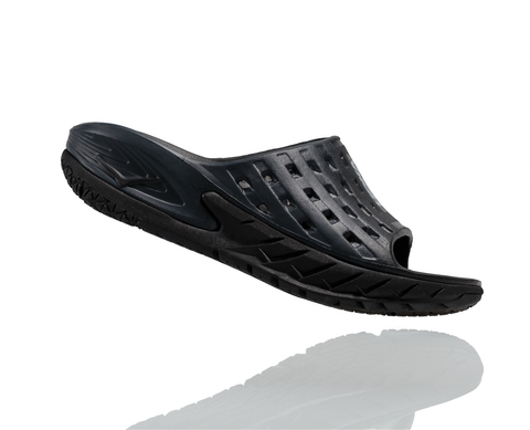 Hoka One One Women's Ora Recovery Slide - Black/Anthracite (1014865-BANT)