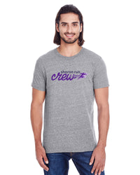 UNISEX T SHIRT - TS-SHARONRUNCREW-102A-GREY TRIBLEND
